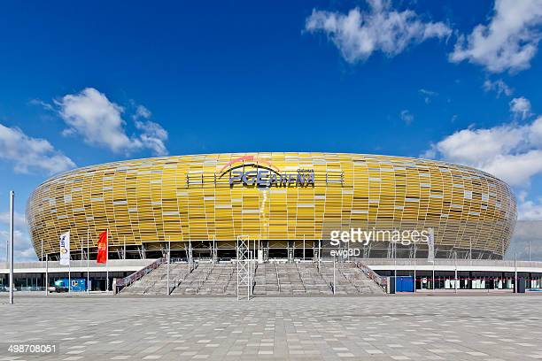 football stadium of gdansk, euro 2012 - gdansk stock pictures, royalty-free photos & images