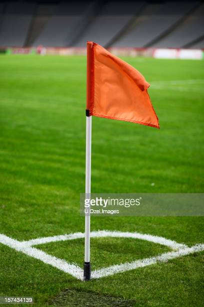 football stadium - corner marking stock pictures, royalty-free photos & images