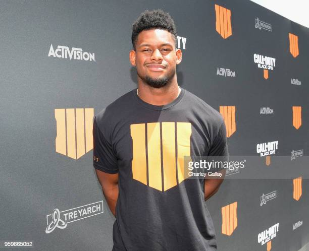 Football star Juju SmithSchuster arrives on the black carpet at the Call of Duty Black Ops 4 Community Reveal Event in Hawthorne CA on May 17 2018