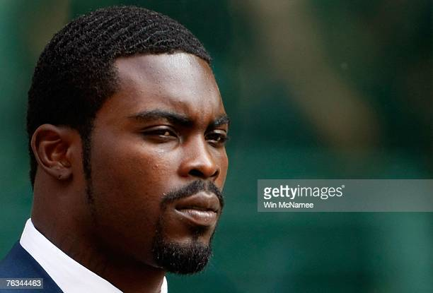 Football star Michael Vick departs federal court August 27 2007 in Richmond Virginia Vick pleaded guilty in court to federal dogfighting conspiracy...