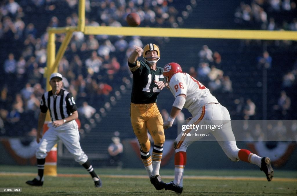 Green Bay Packers QB Bart Starr, Super Bowl I : News Photo