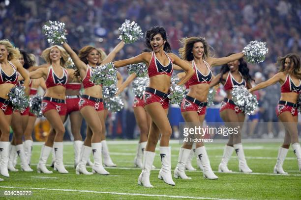 Super Bowl LI Atlanta Falcons cheerleaders on field during game vs New England Patriots at NRG Stadium Houston TX CREDIT Al Tielemans