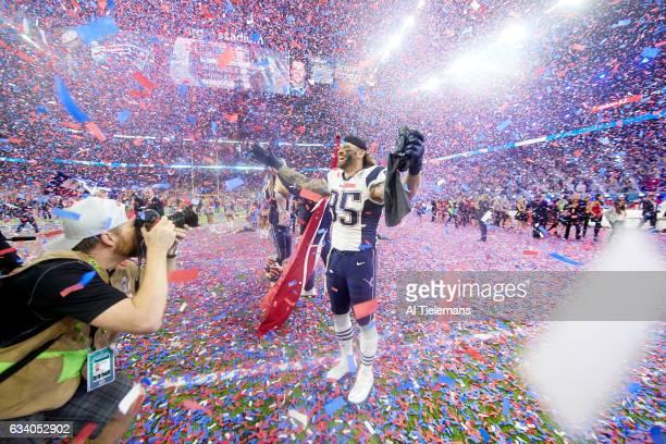 Super Bowl LI New England Patriots Chris Long victorious after winning game vs Atlanta Falcons at NRG Stadium Houston TX CREDIT Al Tielemans
