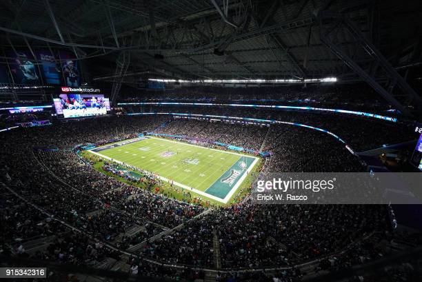 Super Bowl LII: Aerial view of Philadelphia Eagles in action vs New England Patriots at US Bank Stadium. Minneapolis, MN 2/4/2018 CREDIT: Erick W....