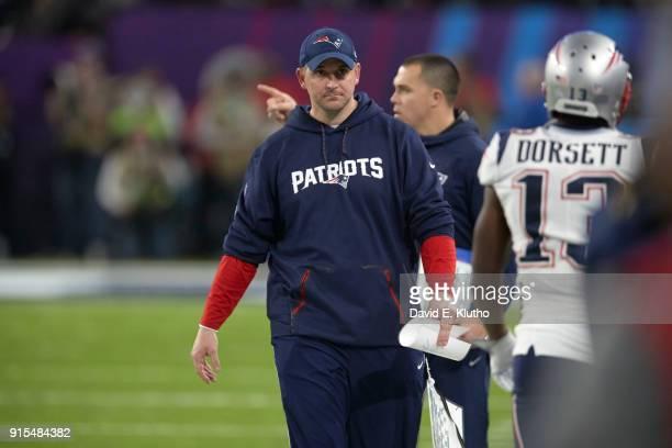 Super Bowl LII New England Patriots special teams coach Joe Judge during game vs Philadelphia Eagles at US Bank Stadium Minneapolis MN CREDIT David E...