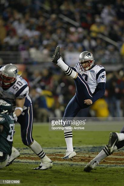 NFL Football Super Bowl Philadelphia Eagles against New England Patriots Josh Miller during the Super Bowl 39 in Jacksonville Fla on Feb6 2005 at...