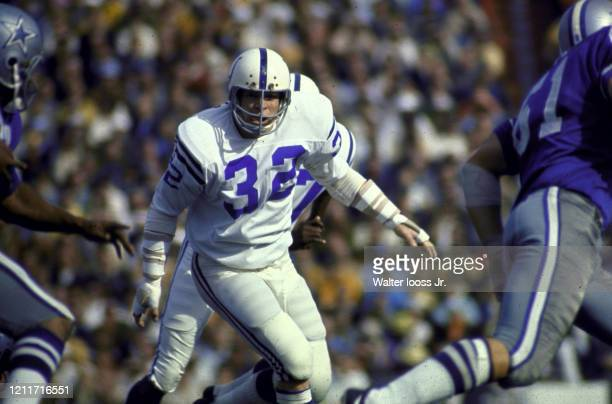 Super Bowl V Baltimore Colts Mike Curtis in action vs Dallas Cowboys at Orange Bowl Stadium Miami FL CREDIT Walter Iooss Jr