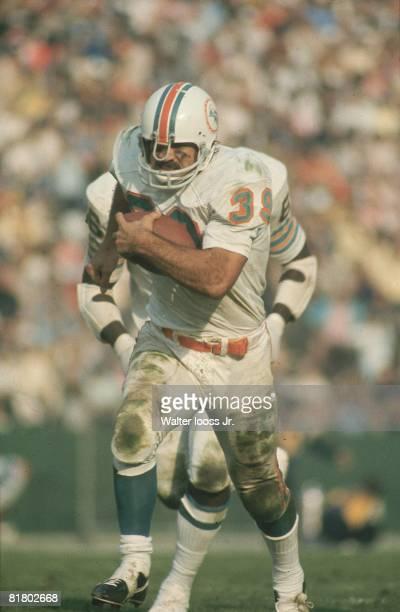 Football Super Bowl VII Miami Dolphins Larry Csonka in action rushing vs Washington Redskins Los Angeles CA 1/14/1973