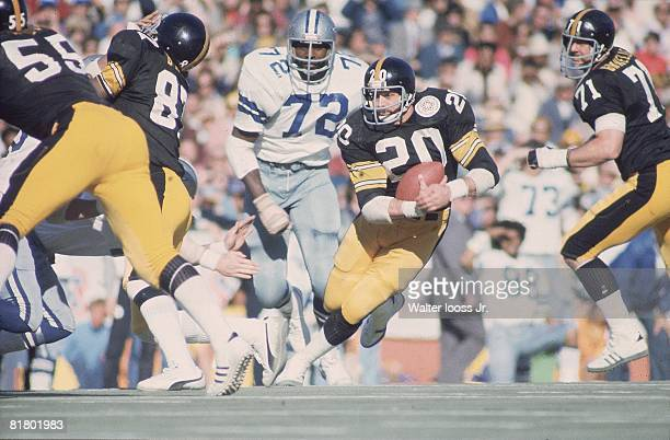 Football Super Bowl X Dallas Cowboys Rocky Bleier in action vs Pittsburgh Steelers Miami FL 1/18/1976