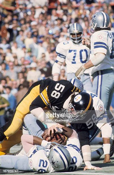Super Bowl X Pittsburgh Steelers Jack Lambert in action vs Dallas Cowboys at Orange Bowl Stadium Miami FL CREDIT Heinz Kluetmeier