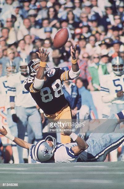 Football Super Bowl X Pittsburgh Steelers Lynn Swann in action vs Dallas Cowboys Miami FL 1/18/1976