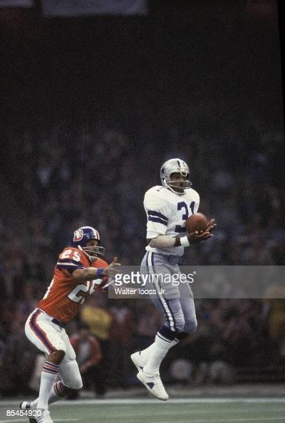 Dallas Cowboys Benny Barnes in action, making interception ...