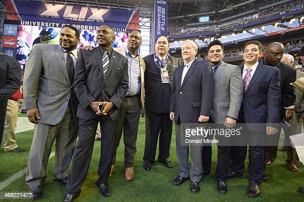 Super Bowl XLIX Members of the 2015 Hall of Fame class former Pittsburgh Steelers running back Jerome Bettis former Oakland Raiders wide receiver Tim...