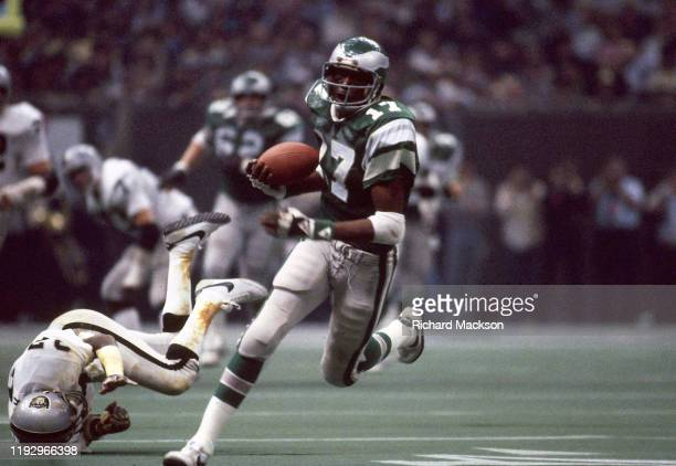 Super Bowl XV Philadelphia Eagles Harold Carmichael in action vs Oakland Raiders at Louisiana Superdome New Orleans LA CREDIT Richard Mackson