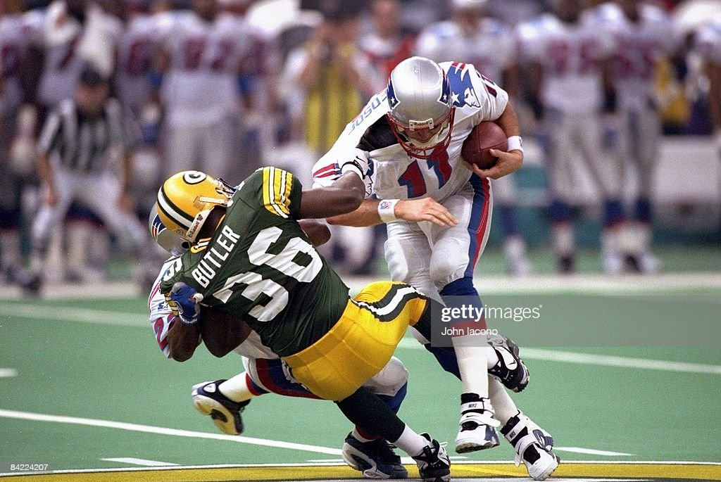 Green Bay Packers Leroy Butler In Action Sack Vs New