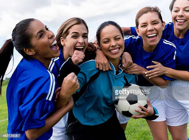 football team celebrating a goal - team sport stock pictures, royalty-free photos & images