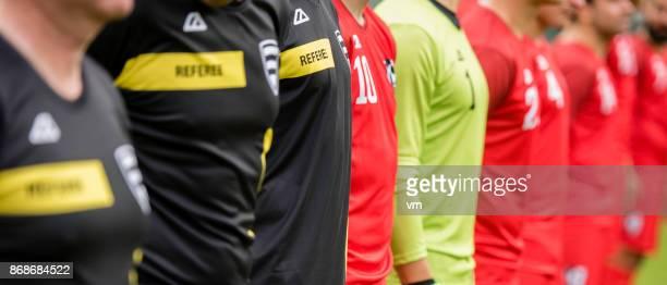 fotboll under nationalsången - national team bildbanksfoton och bilder