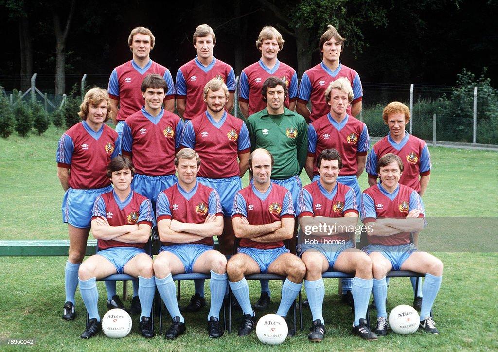 Football, Team group photograph of Burnley FC, 1979 - 1980 ...