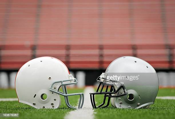 football the big game - sports helmet stock pictures, royalty-free photos & images