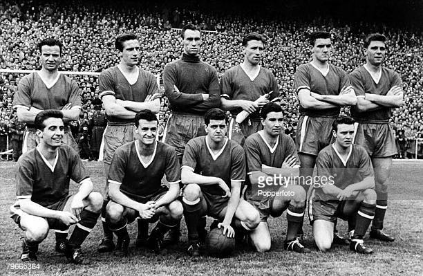 Football The Manchester United team pose for a group photograph 1957