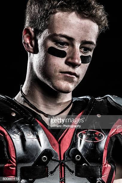 football tough - eye black stock photos and pictures