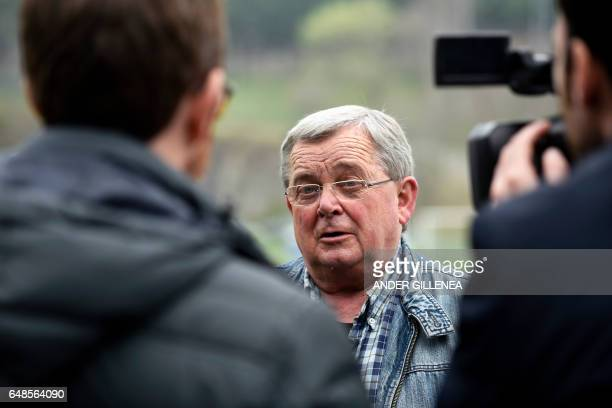 Football trainer Mikel Etxarri speaks with journalists in the northern Spanish Basque village of Hondarribia on February 23 2017 When he was a kid in...