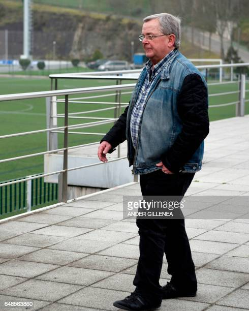 Football trainer Mikel Etxarri walks in the northern Spanish Basque village of Hondarribia on February 23 2017 When he was a kid in Hondarribia Unai...