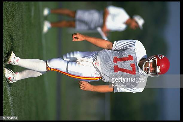 Training camp KC Chiefs QB Dave Krieg alone