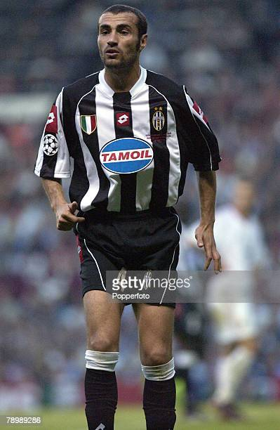 Football UEFA Champions League Final Manchester England 28th May 2003 Juventus 0 v AC Milan 0 Milan won 3 2 on penalties Paolo Montero of Juventus