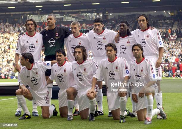Football UEFA Champions League Final Manchester England 28th May 2003 Juventus 0 v AC Milan 0 Milan won 3 2 on penalties AC Milan team group