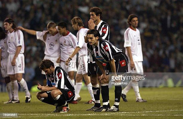 Football UEFA Champions League Final Manchester England 28th May 2003 Juventus 0 v AC Milan 0 Milan won 3 2 on penalties Alessandro Del Piero of...