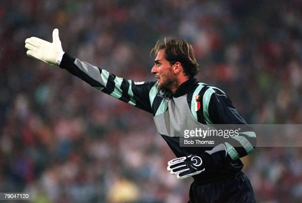 Football UEFA Champions League Final Munich Germany 26th May 1993 Marseille 1 v AC Milan 0 AC Milan goalkeeper Sebastiano Rossi