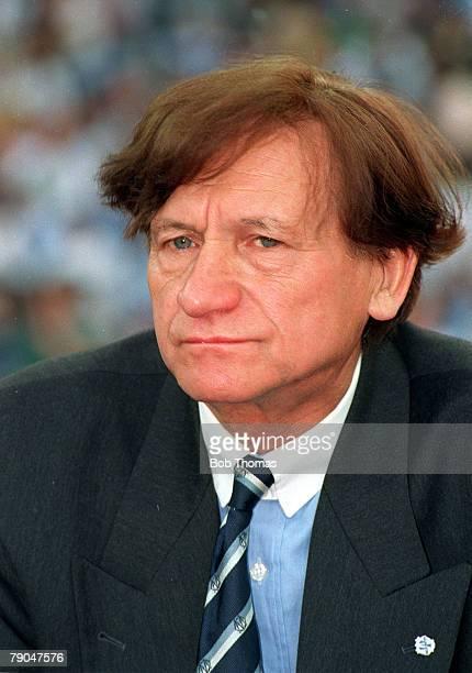 Football UEFA Champions League Final Munich Germany 26th May 1993 Marseille 1 v AC Milan 0 Marseille coach Raymond Goethals