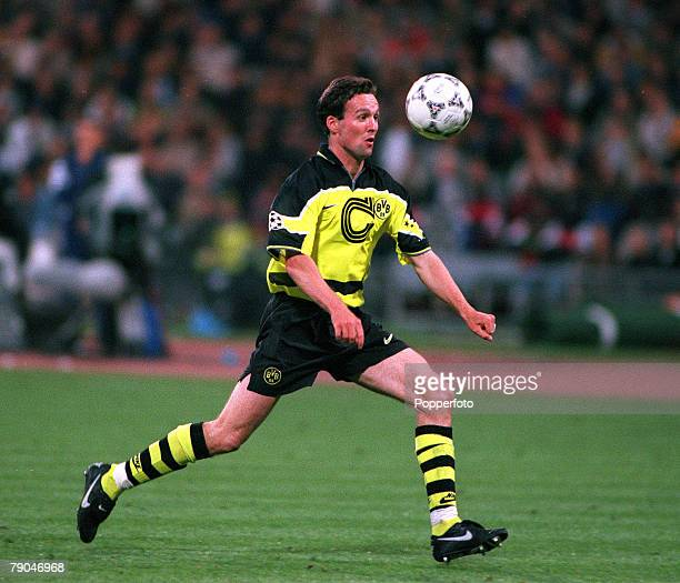 Football UEFA Champions League Final Munich Germany 28th May 1997 Borussia Dortmund 3 v Juventus 1 Borussia Dortmund's Paul Lambert