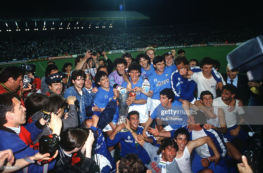 Image result for photos of napoli winning uefa cup 1989