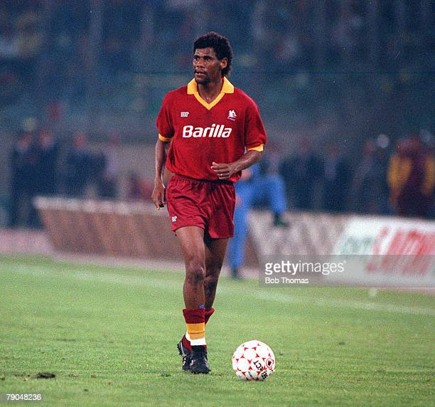 Football UEFA Cup Final Second Leg Rome Italy 22nd May 1991 Roma 1 v Inter Milan 0 Roma's Santos Aldair