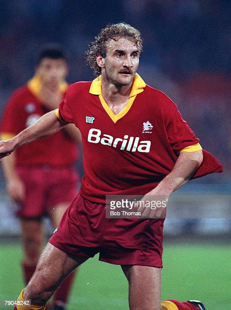 Football UEFA Cup Final Second Leg Rome Italy 22nd May 1991 Roma 1 v Inter Milan 0 Roma's Rudi Voeller