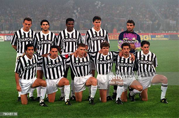 Football UEFA Cup Final Second Leg Turin Italy 19th May 1993 Juventus 3 v Borussia Dortmund 0 The Juventus team pose together for a group photograph...