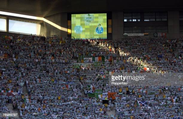 Football UEFA Cup Final Seville Spain 21st May 2003 Celtic 2 v FC Porto 3 Celtic fans in the stadium