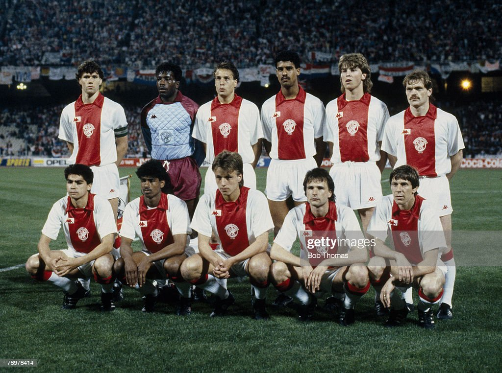 Football. UEFA Cup Winners Cup Final. Athens, Greece. 15th May 1987. Ajax Amsterdam 1 v Lokomotiv Leipzig 0 : News Photo