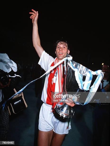 Football, UEFA Cup Winners Cup Final, Athens, Greece, 15th May 1987, Ajax Amsterdam 1 v Lokomotiv Leipzig 0, Ajax captain, and winning goalscorer,...