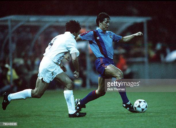 Football UEFA Cup Winners Cup Final Berne Switzerland 10th May 1989 Barcelona 2 v Sampdoria 0 Barcelona's Gary Lineker