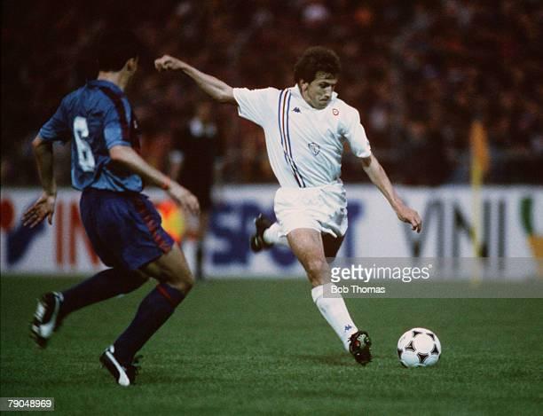 Football UEFA Cup Winners Cup Final Berne Switzerland 10th May 1989 Barcelona 2 v Sampdoria 0 Sampdoria's Victor