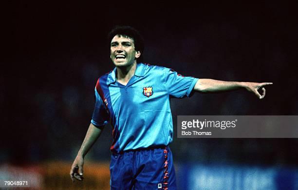 Football UEFA Cup Winners Cup Final Berne Switzerland 10th May 1989 Barcelona 2 v Sampdoria 0 Barcelona's Eusebio