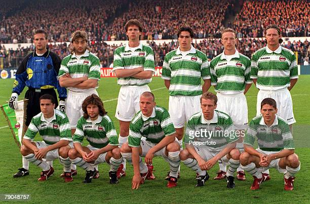 Football, UEFA Cup Winners Cup Final, Brussels, Belgium, 8th May 1996, Paris St Germain 1 v Rapid Vienna 0, The Rapid Vienna team line-up together...