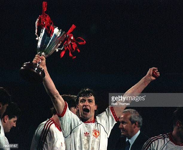 Football, UEFA Cup Winners Cup Final, Rotterdam, Holland, 15th May 1991, Manchester United 2 v Barcelona 1, Manchester United's Mark Hughes, who...