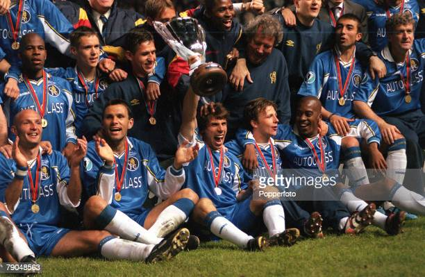 Football, UEFA Cup Winners Cup Final, Stockholm, Sweden, 13th May 1998, Chelsea 1 v Stuttgart 0, Chelsea substitute Gianfranco Zola, who scored the...