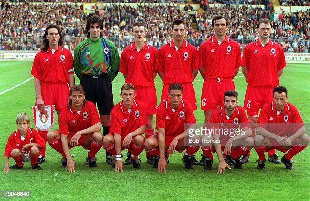 Football, UEFA Cup Winners Cup Final, Wembley, London, England, 12th May 1993, Parma 3 v Antwerp 1, The Antwerp team line-up together for a group...