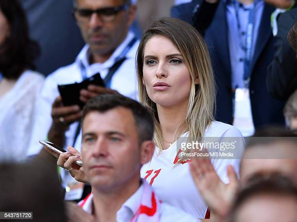 Football UEFA Euro 2016 Round of 16 game between Switzerland and Poland Dominika Grosicka wife of Kamil Grosicki Lukasz Laskowski / PressFocus/MB...