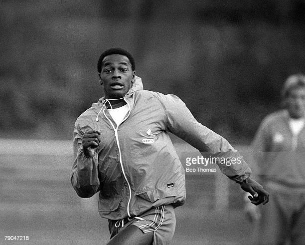 Football Under 21s International 12th October 1982 England v West Germany Second Leg England's Justin Fashanu during a training session